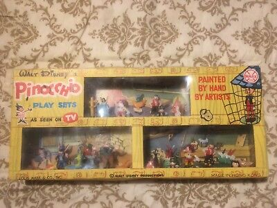 Walt Disneys Pinocchio Triple Play Sets Marx Toys Disneykins