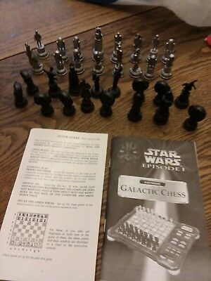 STAR WARS Episode 1 Electronic Galactic Chess pieces only1999 Tiger 32 pcs