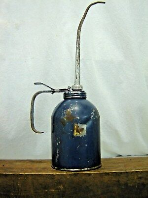 Antique Vintage Eagle BLUE Hydraulic Pump Oiler AUTO TOOL VINTAGE OIL CAN OLD