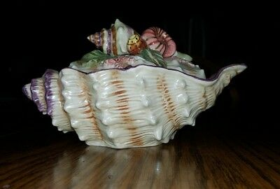 FITZ and FLOYD OCEANA COVERED CONDIMENT SERVING BOWL / 1998