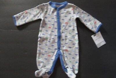 d2d169475 LITTLE ME FOOTIE Pajamas for Baby Boys - One-Piece Striped Footed ...