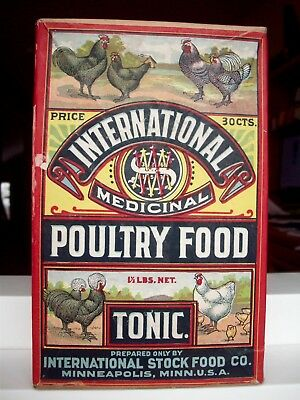 Colorful Graphic Veterinary Box, International Poultry Food Tonic