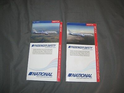 2 National Airlines B 757 - 200 Safety Card