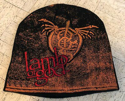 **LAMB OF GOD - Wrath Embroidered Beanie / NEW / Heavy Metal / Thrash / Death**