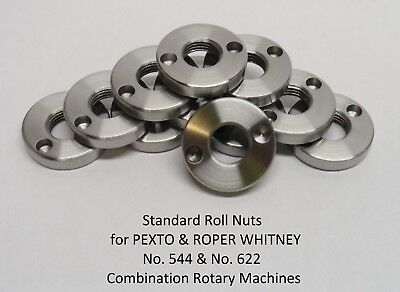 Roll Nuts for 544 & 622 Pexto & Roper Whitney Rotary Machines
