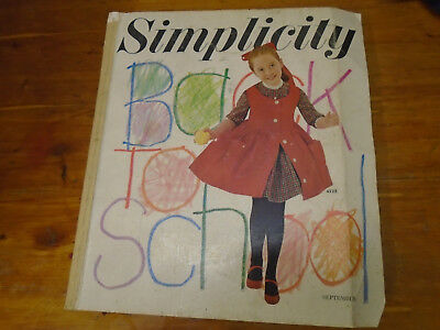 Vintage September 1961 Simplicity Store Sewing Pattern Counter Catalog Fashion