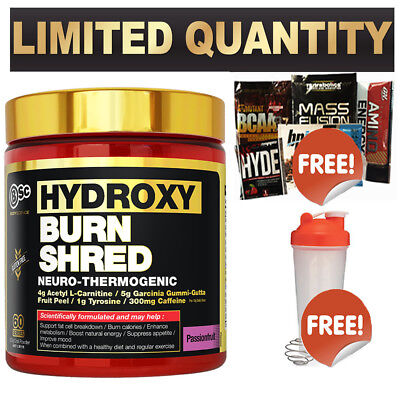 Bsc Hydroxyburn Shred Fat Burner / Weight Loss Hydroxy Burn Oxyshred Free Shaker