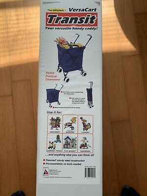 VersaCart Folding Cart in Navy (Brand New in Box)
