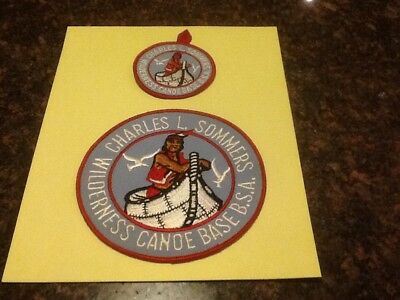 Vintage Charles L. Sommers Canoe Base Patches Pocket And Jacket