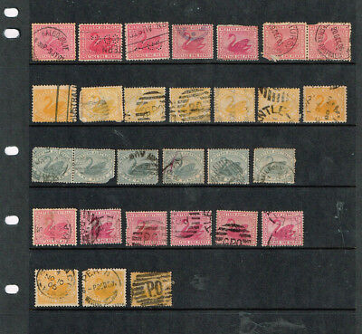 WEST AUSTRALIA STATE STAMP LOT - WA - Stamps - Swans - Unsorted