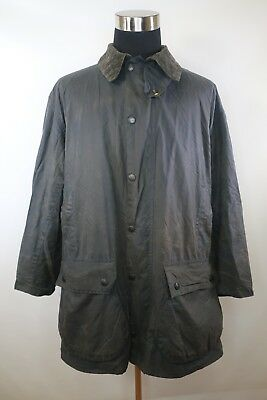 C8186 VTG Men's BARBOUR BORDER Snap-Zip Oil Waxed Jacket