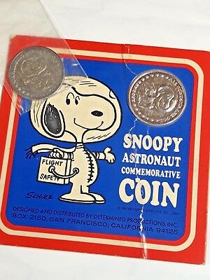 Snoopy Astronaut Commemorative Coin In Package With Extra Coin