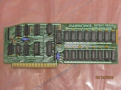 Applied Engineering Ramworks Card - Apple IIe - Tested Working