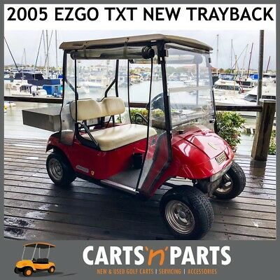 EZGO TXT Trayback Golf Cart Buggy 2005 NEAR NEW BATTERIES BRAND NEW TRAY Red 2 S