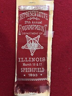 1893 Illinois Civil War Encampment Ribbon