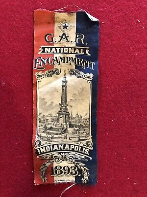 G.A.R. National Encampment Indianapolis 1893 Ribbon