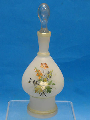 Antique Hand Blown & Hand Painted Bristol Glass Jar