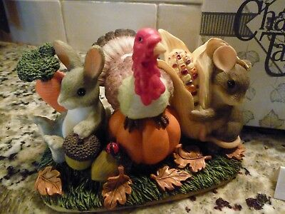 CHARMING TAILS FITZ & FLOYD 'Be Thankful For Friends' Thanksgiving Collectible