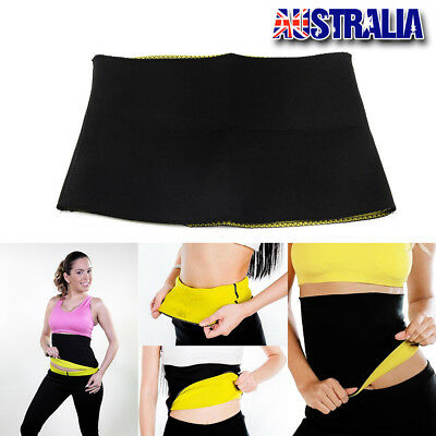 Hot Shapers Belt Slimming Body Shaper Belly Waist Tummy Trimmer Fat Burn Sweat A