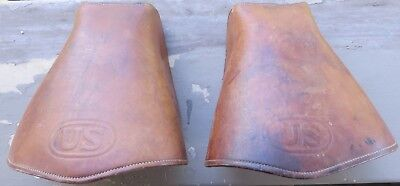 WW1 WWI US Cavalry Mcclellan Leather Hooded Saddle Stirrups Spalding 1918