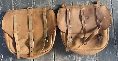 WW1 WWI US Cavalry Leather Saddle Bags Saddle Pouches Indian Motorcycle