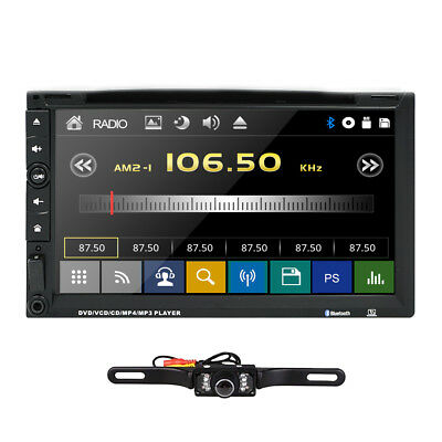 "Sony Lens 7"" Car Stereo Radio DVD Player Double 2Din iPod Bluetooth TV MP3 SWC Y"