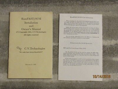RamFAST/SCSI C.V.Technologies - Owner's Manual - Vintage Apple II