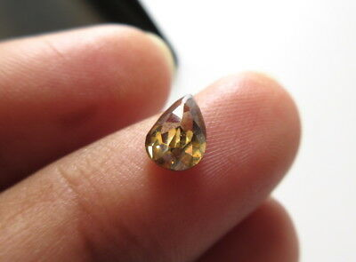 OOAK 0.85CTW 7.5MM Clear Brown Champagne Color Moissanite Rose Cut For Ring MM74