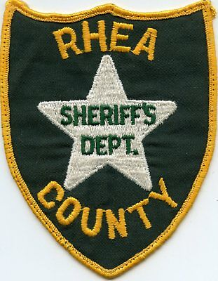 old vintage RHEA COUNTY TENNESSEE TN SHERIFF POLICE PATCH
