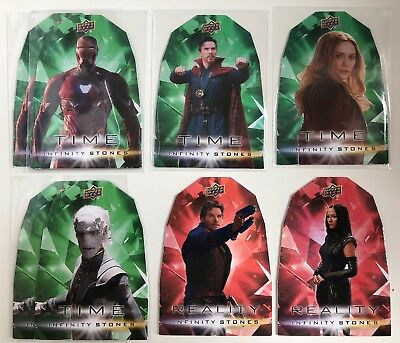 2018 Avengers Infinity War Time Reality Stones 8 Card Lot 1:20