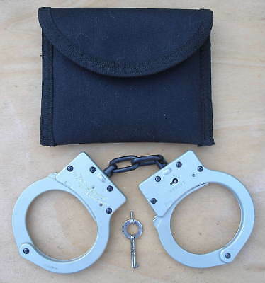 American Handcuff Co Lightweight Ultra-Lite Aluminum A105 Handcuffs With Key #2