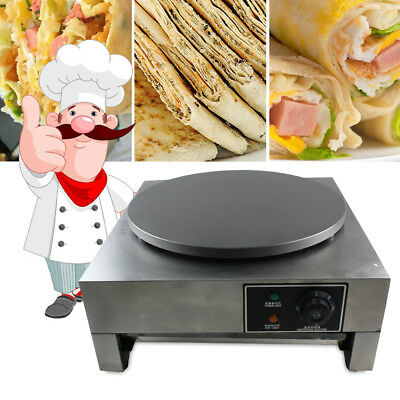 Commercial Electric Crepe Maker/Single Griddle Hot Plate Pancake Making Machine