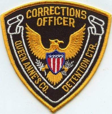 QUEEN ANNES COUNTY MARYLAND MD DOC CORRECTIONS DETENTION SHERIFF police PATCH