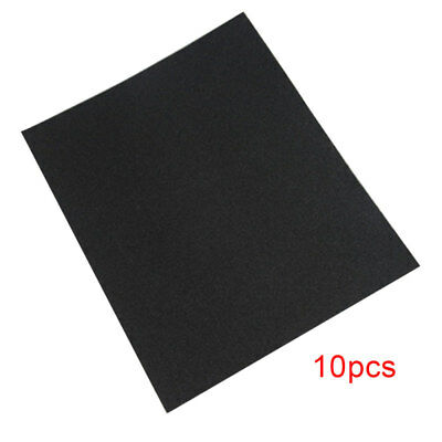 10pcs Wet Dry Sandpaper Abrasive Sanding Paper Sheets 600-2000 Grit Metal Wood
