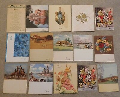 Lot Of 15 1955 R.m.s. Queen Elizabeth Breakfast/lunch/dinner Menus Cunard Line