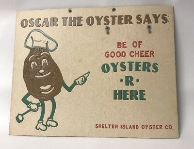 Vintage Shelter Island Oyster Puree Label Greenport Oyster Co recipes on reverse