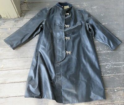 Antique Goodrich Goodyear Rubber Firefighting Mining Turnout Bunker Trench Coat