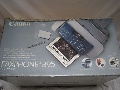 Canon FaxPhone B95 Desktop Inkjet Fax Phone Answering Machine NEW OPEN BOX