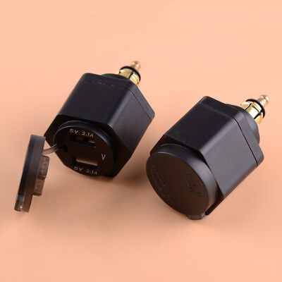 Car LED Voltmeter Dual USB Charger Power Adapter for BMW Motorcycle Hella Plug