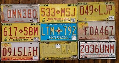 NEW MEXICO license plate Lot  UNM, Balloon, Yellow, Turquoise plates. Craft