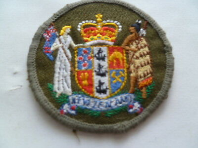 NZ army wo1 sleeve patch used