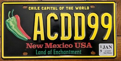 New Mexico Chile capital of the world license plate. ACDD99  NM #1 collectable