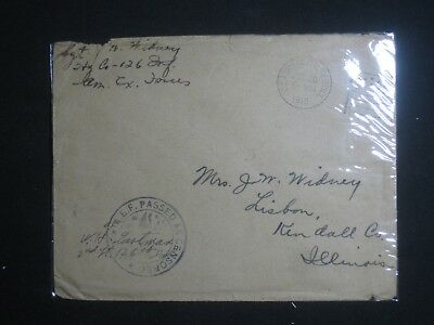 2 WWI,Censored Covers,Empty,Enclosed In Cellophane For 75 Years