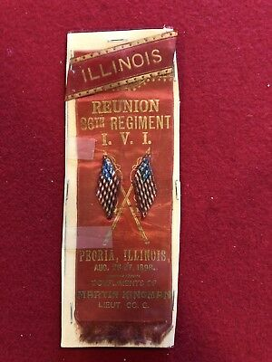 I.V.I. 86th Regiment 1898 Civil War Reunion Ribbon
