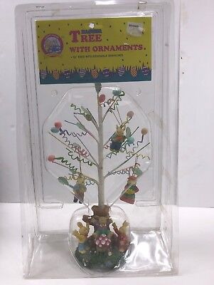 "Chirpy & Nibbles™  Easter Tree With Ornaments 12"" Tree Bendable Branches Rabbits"