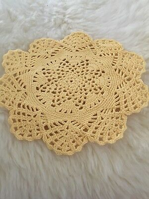 Hand crocheted doilie for dresser, table or under your favourite vase.