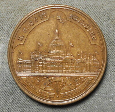 SCD HK-155 Official Medal World's Columbian Expo 1893 US Mint Small Letters R-2