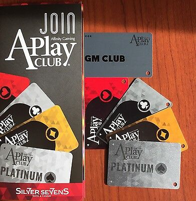 ☀NEW☀Silver Sevens 5 Levels A-Play Club GM☀2016 Affinity Gaming☀Slot Cards Vegas