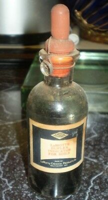 antique bottle Lamotte Duplex Indicator for Soils  5 inch