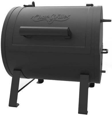 Portable Tabletop Charcoal Grill Barrel Fire Box Cooker Smoker Cast Iron Grate